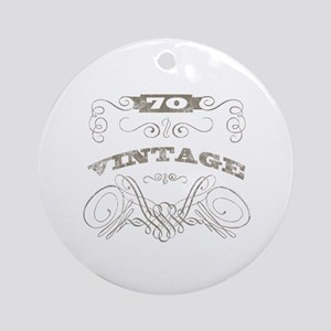 Vintage 70th Birthday Ornament (Round)