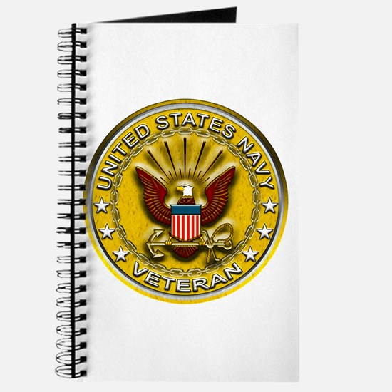 US Navy Veteran Gold Chained Journal