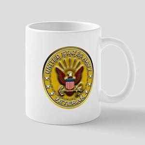 US Navy Veteran Gold Chained Mug