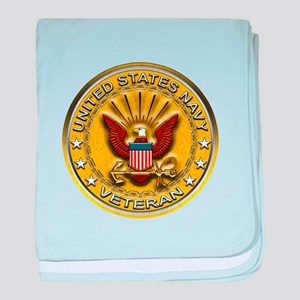 US Navy Veteran Gold Chained baby blanket