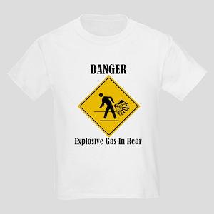 Danger Explosive Gas In Rear Kids Light T-Shirt