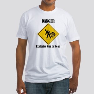 Danger Explosive Gas In Rear Fitted T-Shirt