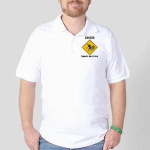 Danger Explosive Gas In Rear Golf Shirt