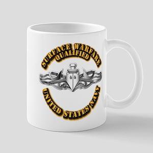 Navy - Surface Warfare - Silver Mug