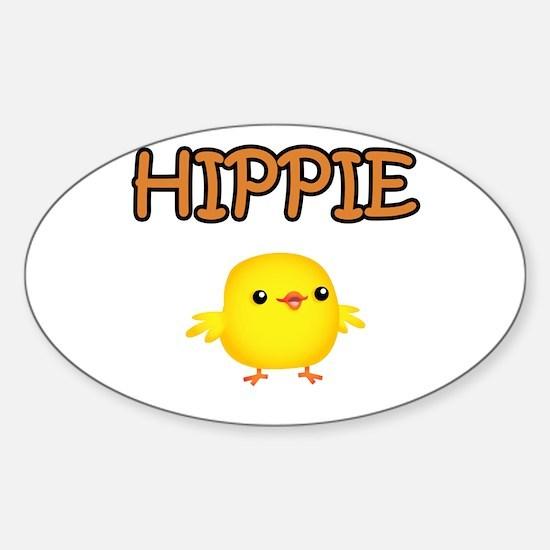 Hippie Chick Sticker (Oval)