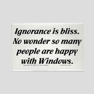 Ignorance/Windows... Rectangle Magnet