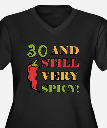 Spicy At 30 Years Old Women's Plus Size V-Neck Dar