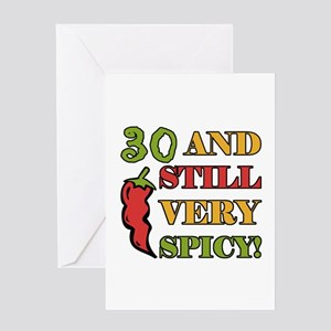 Spicy At 30 Years Old Greeting Card