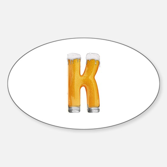 K Beer Oval Decal