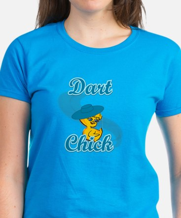 Dart Chick #3 Women's Dark T-Shirt