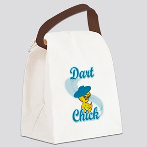 Dart Chick #3 Canvas Lunch Bag
