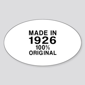 Made In 1926 Sticker (Oval)