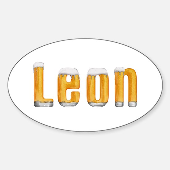 Leon Beer Oval Decal