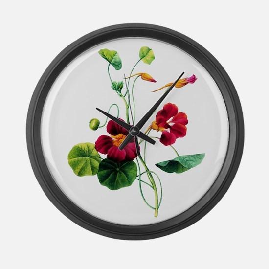 Pierre-Joseph Redoute Botanical Large Wall Clock
