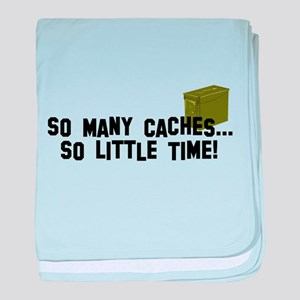 So many caches...so little time baby blanket
