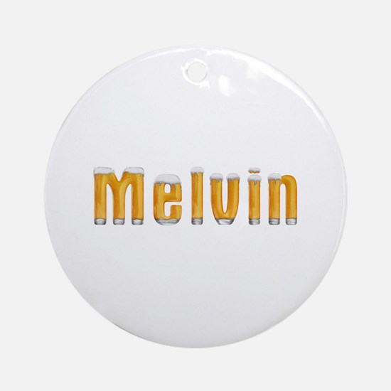 Melvin Beer Round Ornament