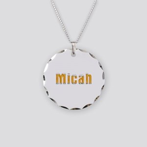 Micah Beer Necklace Circle Charm
