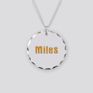 Miles Beer Necklace Circle Charm