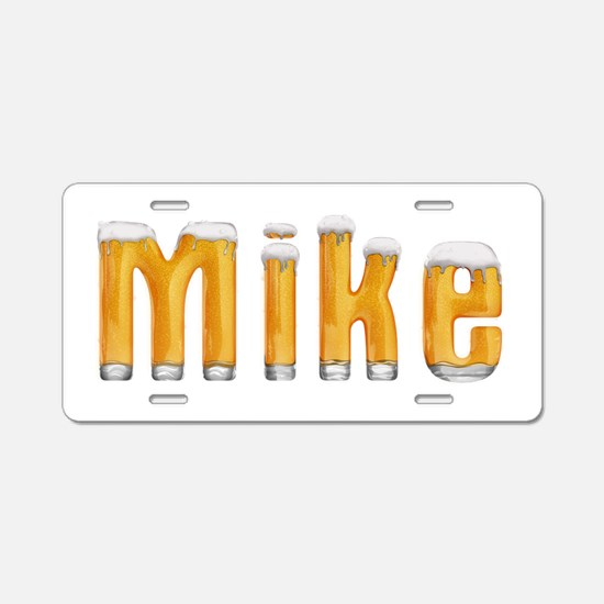 Mike Beer Aluminum License Plate