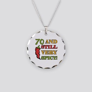 Spicy At 70 Years Old Necklace Circle Charm