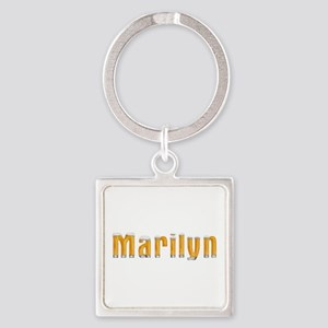 Marilyn Beer Square Keychain