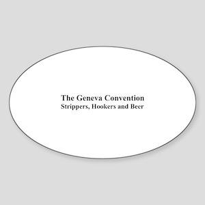 The Geneva Convention Oval Sticker