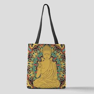 Buddha Polyester Tote Bag