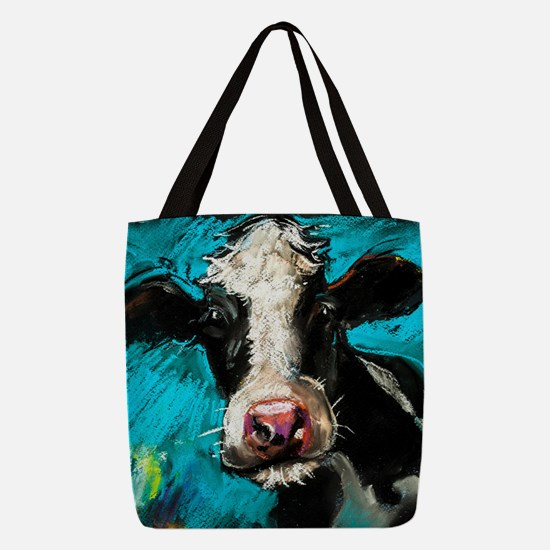 Cow Painting Polyester Tote Bag