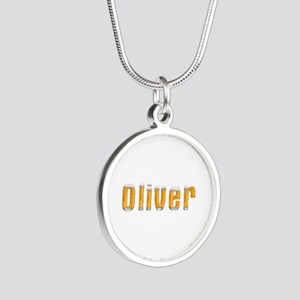 Oliver Beer Silver Round Necklace