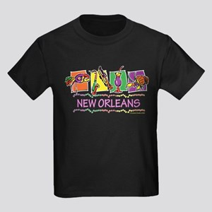 New Orleans Boxes Kids Dark T-Shirt