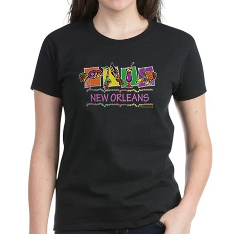 New Orleans Boxes.png Women's Dark T-Shirt