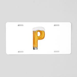 P Beer Aluminum License Plate