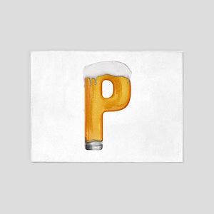 P Beer 5'x7' Area Rug