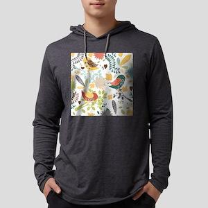 Woodland Birds Mens Hooded Shirt