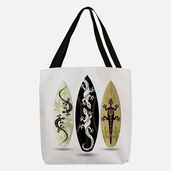 Tribal Surfboards Polyester Tote Bag
