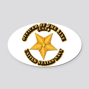 Navy - Officer of the Line Oval Car Magnet