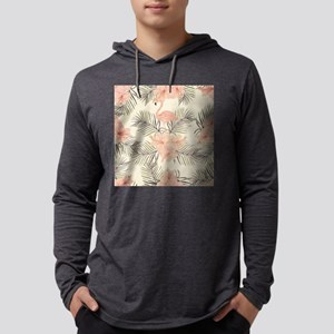 Vintage Flamingo Mens Hooded Shirt