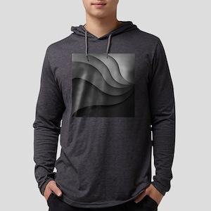 Black Abstract Mens Hooded Shirt