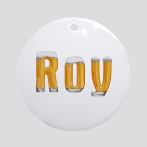 Roy Beer Round Ornament