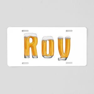 Roy Beer Aluminum License Plate