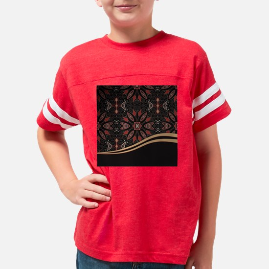 Abstract Floral Youth Football Shirt