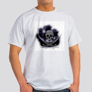 Pirate Ghost Ship Ash Grey T-Shirt