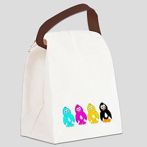 CMYK Penguins Canvas Lunch Bag