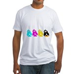 CMYK Penguins Fitted T-Shirt