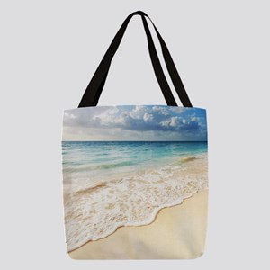 Beautiful Beach Polyester Tote Bag
