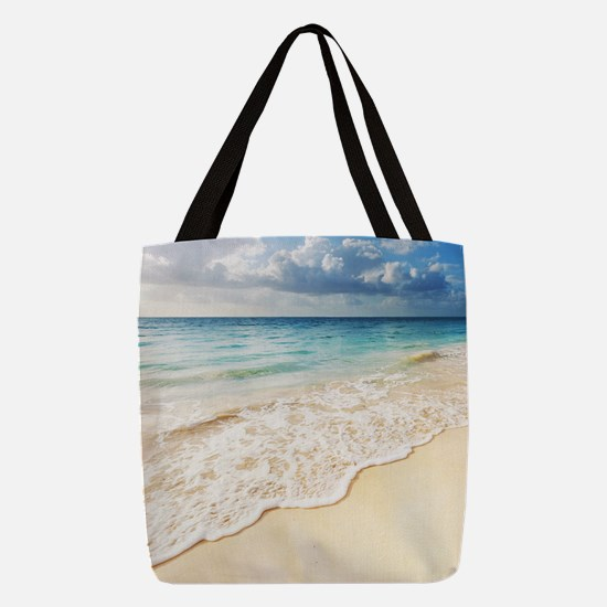 Beautiful Beach Polyester Tote Bag
