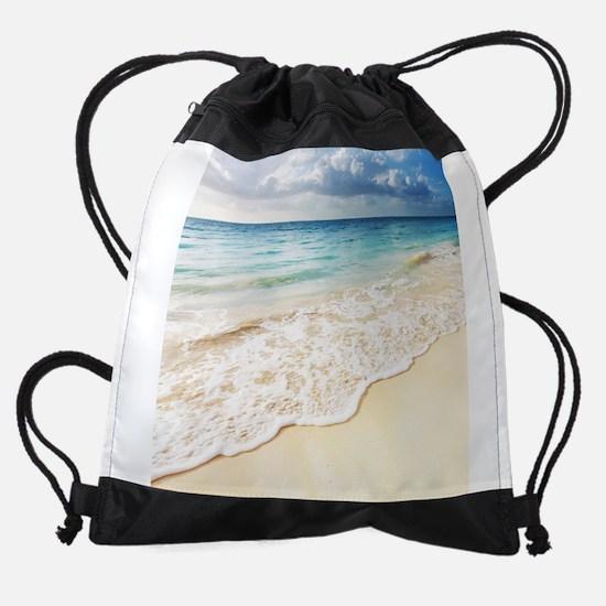 Beautiful Beach Drawstring Bag