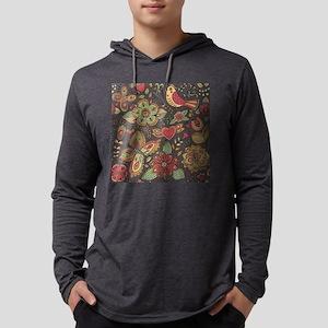 Decorative Floral Mens Hooded Shirt