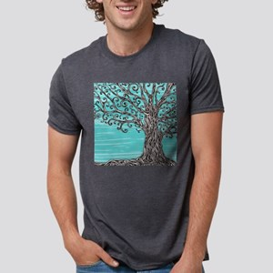 Decorative Tree Mens Tri-blend T-Shirt