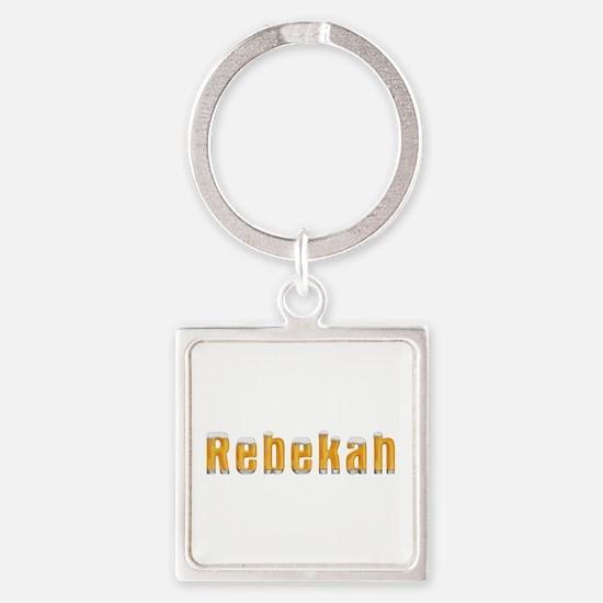 Rebekah Beer Square Keychain